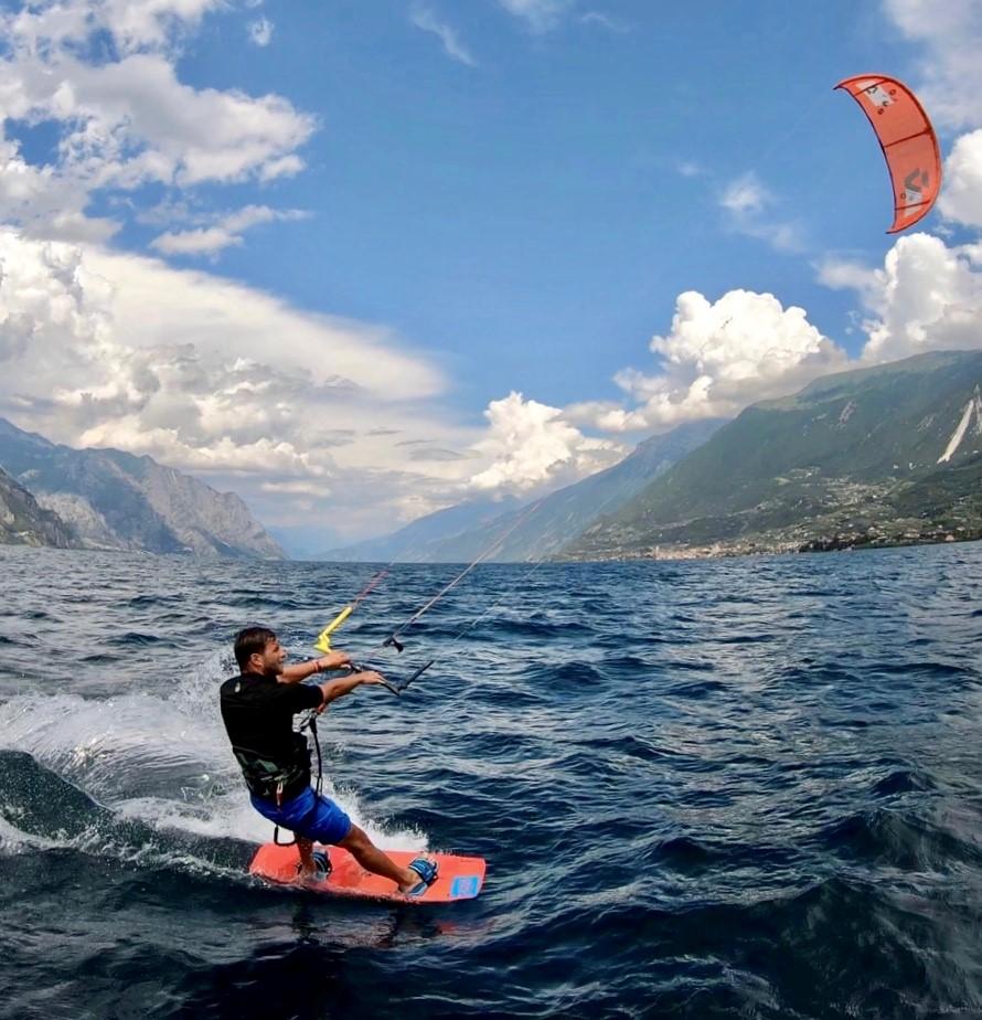 Kiter vor Val di Sogno