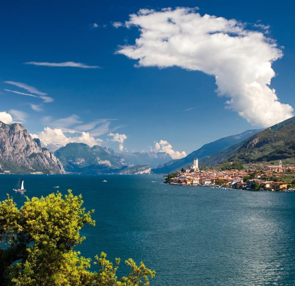 Panoramablick von Malceisne nach Torbole