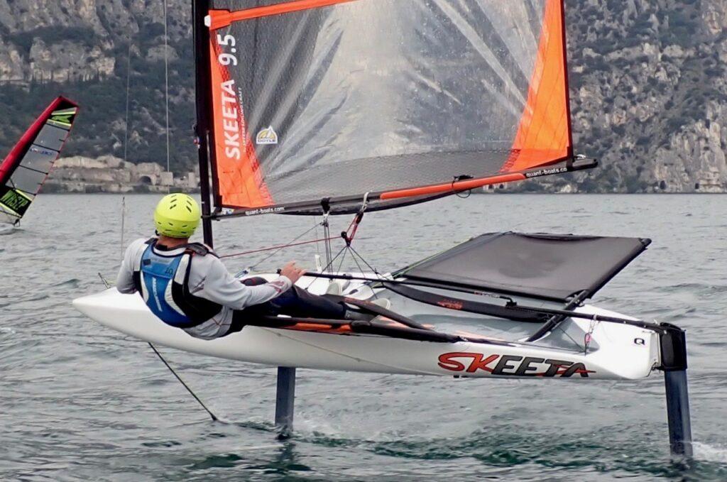Segelboot mit Hydrofoil